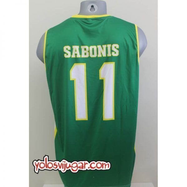 Camiseta Arvydas Sabonis ⑪ Retro ?❱❱Lituania-detrás