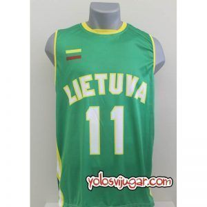 Camiseta Arvydas Sabonis ⑪ Retro ?❱❱Lituania-delante
