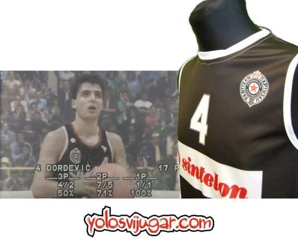 Camiseta Sasha Djordjevic ④ Retro ?❱❱Partizan Belgrado