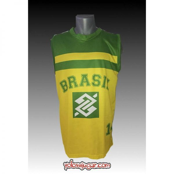 Camiseta Oscar Schmidt ①④ Retro ?❱❱Brasil-delante