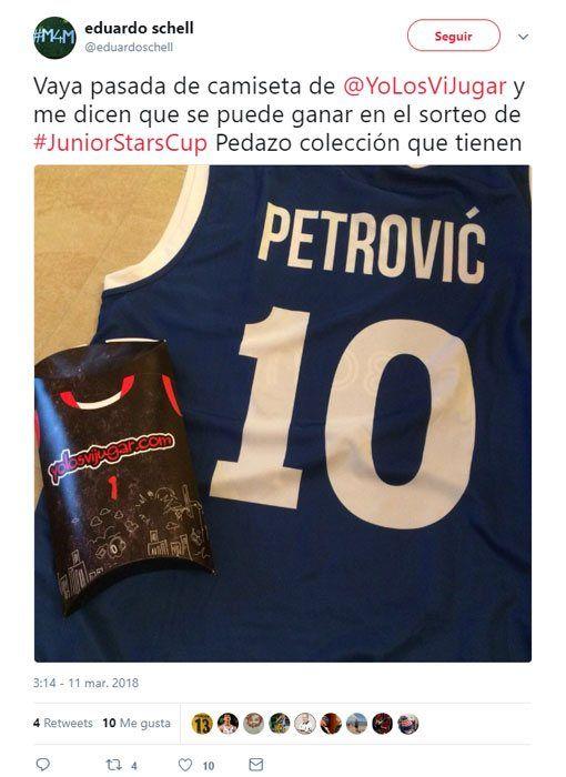 Camiseta Drazen Petrovic compartida en Twitter 2 ⑩? Cibona Zagreb